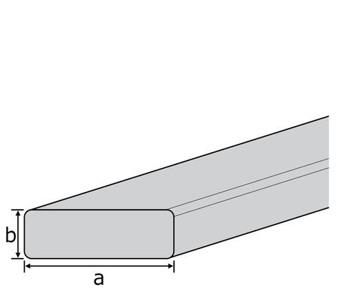 gezogen L/änge 1000 mm Abmessungen 100 x 4 mm Aluminium Flachmaterial Oberfl/äche blank